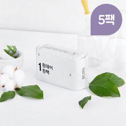 원데이원팩 유기농 생리대 오버나이트 3팩+2팩