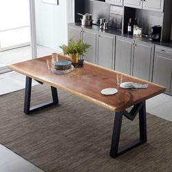 리오모던 뉴송 우드슬랩 통원목 8인용 식탁 테이블