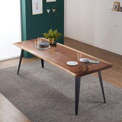 리오델 뉴송 우드슬랩 원목 8인용 식탁 테이블 2000