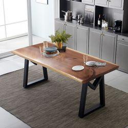 리오모던 우드슬랩 원목 6인용 식탁 테이블 1800