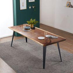 리오델 뉴송 우드슬랩 통원목 6인용 식탁 테이블1800