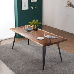 리오 델 뉴송 우드슬랩 통원목 6인용 식탁 테이블