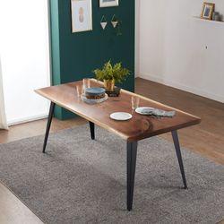 리오 델 뉴송 우드슬랩 통원목 4인용 식탁 테이블