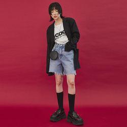 raw-cut edges jacket (2 color) - UNISEX