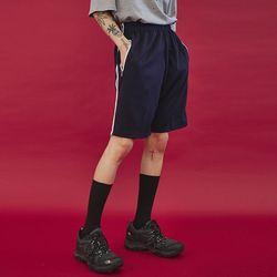 two line training half pants (4 color) - UNISEX