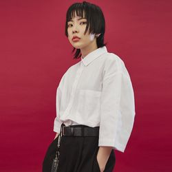 boxy pocket cotton 12 shirts (4 color) - UNISEX