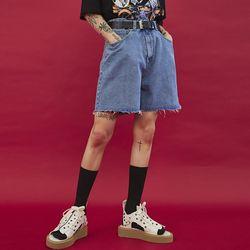 daily half denim pants (2 color) - UNISEX
