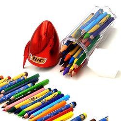 빅키즈 색연필 크레용 24색세트