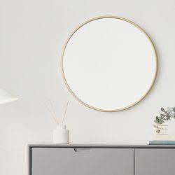 코펜하겐 무광골드 원형 벽거울
