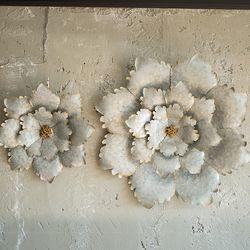 JD6-32 빈티지 꽃잎 벽장식 (소)