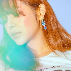 [클리어런스] Fantasia Multi Crystal Earrings