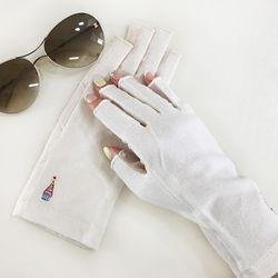 여성 UV차단 드라이빙 자수 손가락반장갑