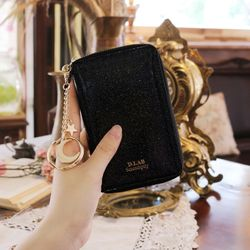 D.LAB Twinkle Zipper Wallet - Black