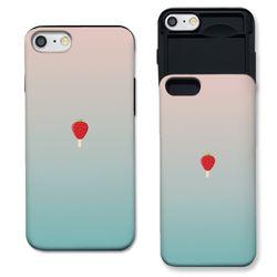 [아이폰7+] 딸기바 민트로즈 S3102B 슬라이더
