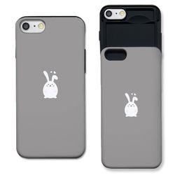 [아이폰7+] 러블리 토끼 그레이 S3047E 슬라이더