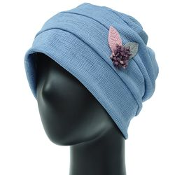 [더그레이S]NSS14.꽃장식 와플 여성 비니 엄마 모자