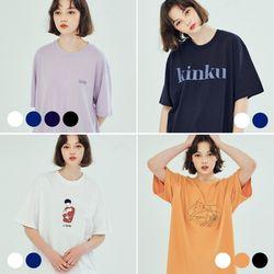 (2PACK) 킨쿠라인 티셔츠 묶음 상품 (6COLOR)