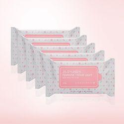 [질경이 시즌2 순수]페미닌티슈 라이트 핑크X5묶음