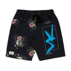 VS PATTERN SHORT PANTS BLACK