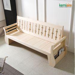 편백나무원목(무절) 3인용쇼파 KMD-301