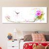 iw899-아름다운꽃과함께핑크대형노프레임벽시계