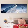 iw894-밤하늘의고래와학대형노프레임벽시계