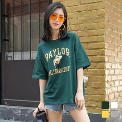 2183 베일러 프린팅 반팔 티셔츠 (4colors)