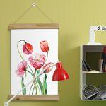 cg232-우드스크롤40CmX60Cm-아름다운꽃수채화