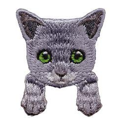 [하이데나이] Kitten gray 벨크로 패치