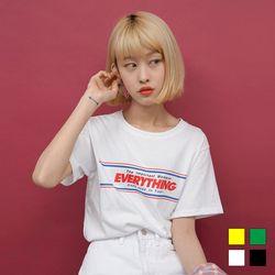 2185 EVERYTHING 프린트 티셔츠(4colors)