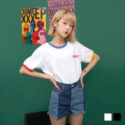 2189 PABLO 배색 티셔츠 (2colors)