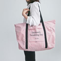 방수 폴딩 쇼퍼백 - 핑크 (여행가방 낮잠이불 비치백)