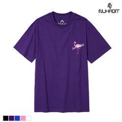 뉴해빗 - peace flamingo - 7nmh-34 -자수반팔