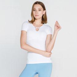 [메디테이션] TS7101 화이트 요가복 티셔츠