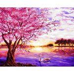 아트조이 DIY 명화그리기 벚꽃 호수 60x75cm
