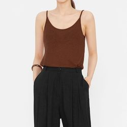 berry linen sleeveless