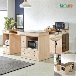 편백나무원목 아일랜드홈빠 식탁풀세트 KMD-901
