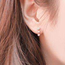 여성스러운 로즈쿼츠 귀걸이(OTE116312QPP)