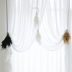 깃털 쌍 타이백 - 3color