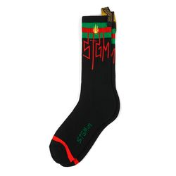 LEAF SKATE SOCKS BLACK