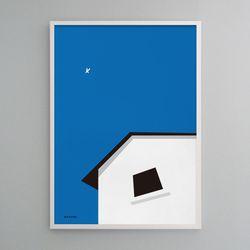 유니크 디자인 포스터 M 떠나고 싶다 A3(중형)
