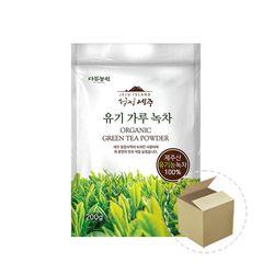 다농원 청정제주 유기 가루녹차 200g 1박스(6개)