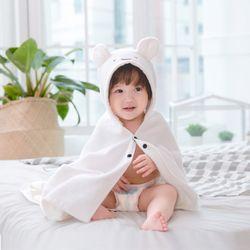 아기목욕가운 - 베어(비치타올 샤워가운)