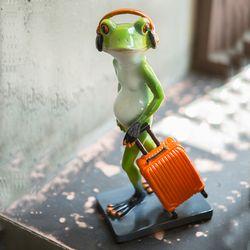 JD3-018 휴가떠나는 개구리 인형