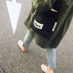 [ether] 버킷 에코백 + 파우치 세트(white)