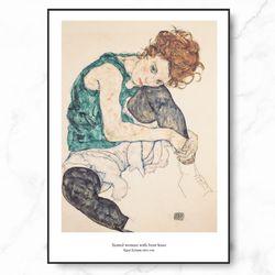 에곤쉴래 인테리어 그림 앉은여인 엣지 액자 A3