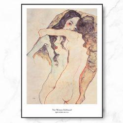 에곤쉴래 인테리어 그림 두 여인 엣지 액자 A3