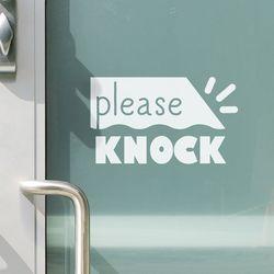 Please knock 도어스티커