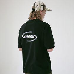 매스노운 MSNU3D 로고 오버핏 반팔티셔츠 MSETS008-BK