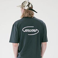 매스노운 MSNU3D 로고 오버핏 반팔티셔츠 MSETS008-GN